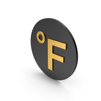 Fahrenheit Degrees Gold Icon PNG & PSD Images