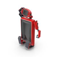Robot TV Set Red PNG & PSD Images