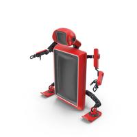 Robot TV Set Red Pose No Face PNG & PSD Images