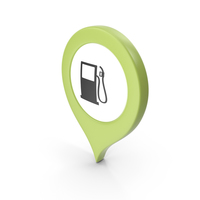 Location Sign Gas Station Green PNG & PSD Images