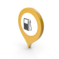 Location Sign Gas Station Yellow PNG & PSD Images