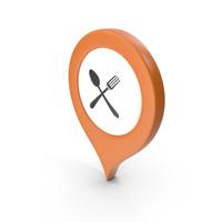 Location Sign Restaurant Orange PNG & PSD Images