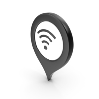 Location Sign Wifi Black PNG & PSD Images