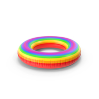 Rainbow Inflatable Rubber Ring PNG & PSD Images