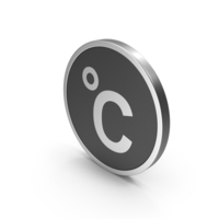 Silver Icon Celsius Degrees PNG & PSD Images