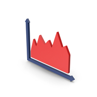 Symbol Graph Red PNG & PSD Images