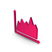 Symbol Graph Metallic PNG & PSD Images
