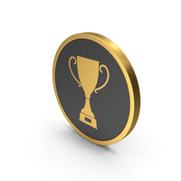 Gold Icon Trophy Cup PNG & PSD Images