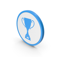 Icon Trophy Cup Blue PNG & PSD Images