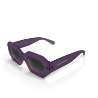 Hologram Pink Opaque Sunglasses PNG & PSD Images