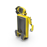 Robot TV Set Yellow PNG & PSD Images