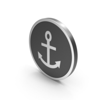 Silver Icon Anchor PNG & PSD Images