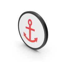 Icon Anchor Red PNG & PSD Images