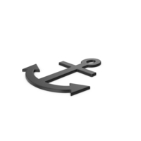 Black Symbol Anchor PNG & PSD Images