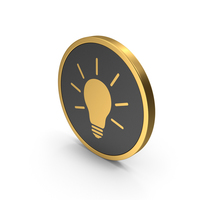 Gold Icon Light Bulb PNG & PSD Images