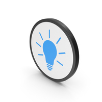 Icon Light Bulb Blue PNG & PSD Images
