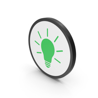 Icon Light Bulb Green PNG & PSD Images