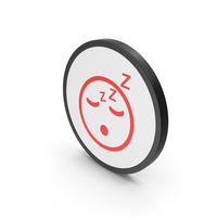 Icon Emoji Sleeping Red PNG & PSD Images