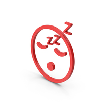 Symbol Emoji Sleeping Red PNG & PSD Images