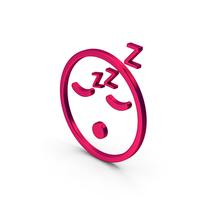 Symbol Emoji Sleeping Metallic PNG & PSD Images