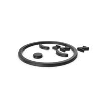 Black Symbol Sleeping Emoji PNG & PSD Images
