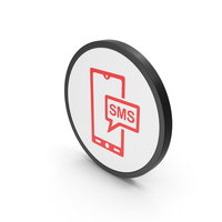 Icon SMS Message Red PNG & PSD Images