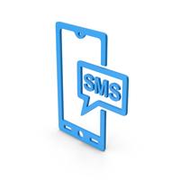 Symbol SMS Message Blue PNG & PSD Images
