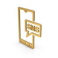 Symbol SMS Message Gold PNG & PSD Images