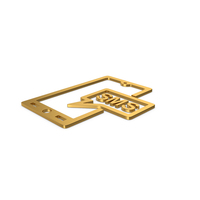 Gold Symbol SMS Message PNG & PSD Images