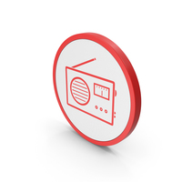 Icon Radio Red PNG & PSD Images