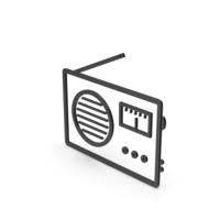 Symbol Radio Black PNG & PSD Images