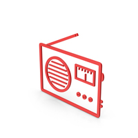 Symbol Radio Red PNG & PSD Images