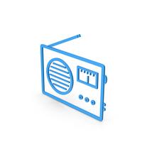 Symbol Radio Blue PNG & PSD Images