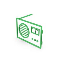 Symbol Radio Green PNG & PSD Images
