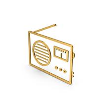 Symbol Radio Gold PNG & PSD Images