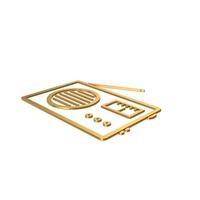Gold Symbol Radio PNG & PSD Images