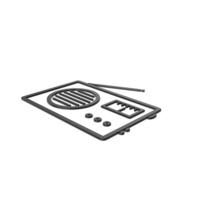 Black Symbol Radio PNG & PSD Images