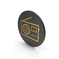 Radio Gold Icon PNG & PSD Images