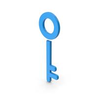 Symbol Key Blue PNG & PSD Images