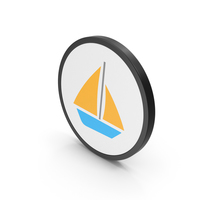 Icon Boat Colored PNG & PSD Images