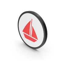 Icon Boat Red PNG & PSD Images