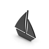 Symbol Boat Black PNG & PSD Images