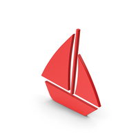 Symbol Boat Red PNG & PSD Images