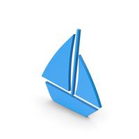Symbol Boat Blue PNG & PSD Images