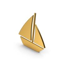 Symbol Boat Gold PNG & PSD Images