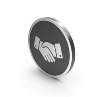 Silver Icon Handshake PNG & PSD Images