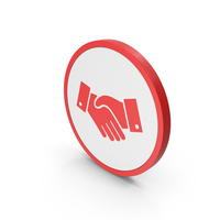 Icon Handshake Red PNG & PSD Images