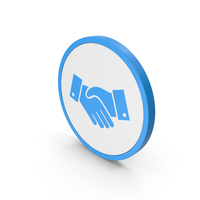 Icon Handshake Blue PNG & PSD Images