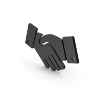 Symbol Handshake Black PNG & PSD Images