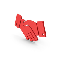 Symbol Handshake Red PNG & PSD Images